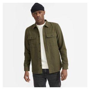 Everlane mens heavy flannel overshirt chore coat